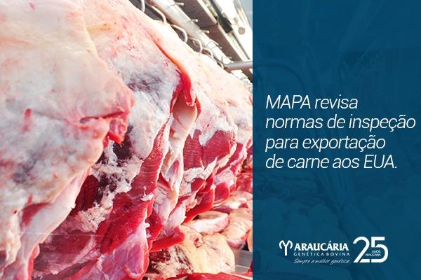 MAPA revisa normas de inspeção para exportação de carne aos EUA