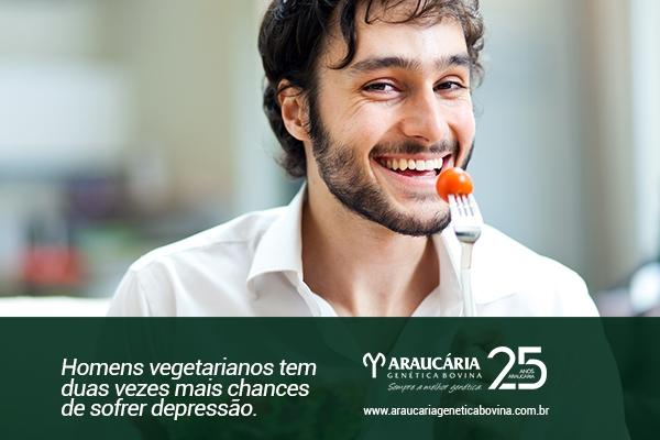 Homens vegetarianos tem duas vezes mais chances de sofrer depressão