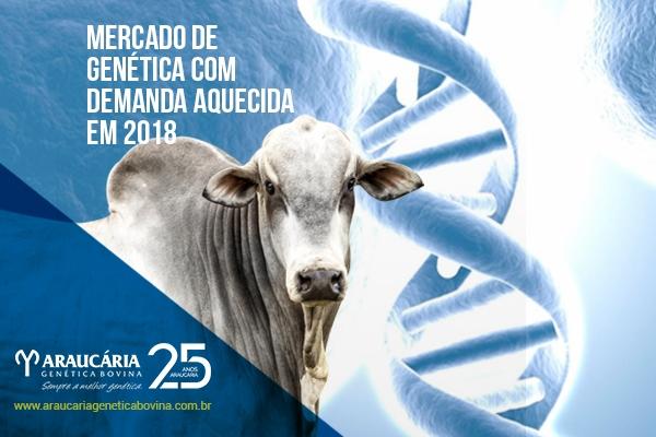 Mercado de genética com demanda aquecida em 2018
