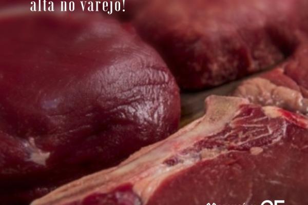 Carne bovina emplaca 3ª semana seguida de alta no varejo