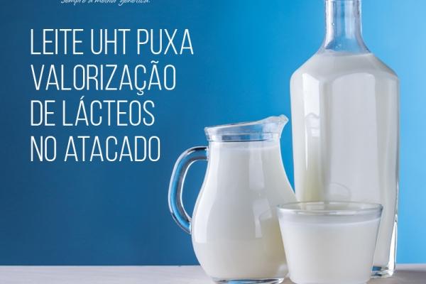Leite UHT puxa valorização de lácteos no atacado