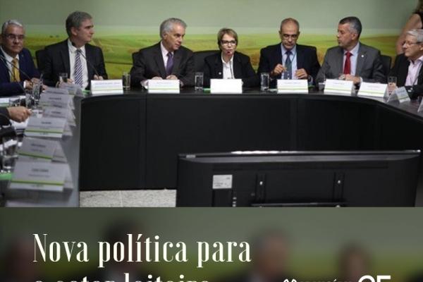 Ministra quer nova política para o setor leiteiro