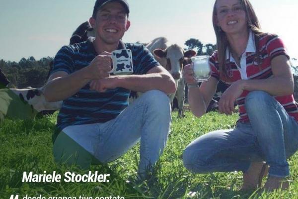 Mariele Stockler: 'desde criança tive contato com as vacas, o que contribuiu muito para a sucessão'