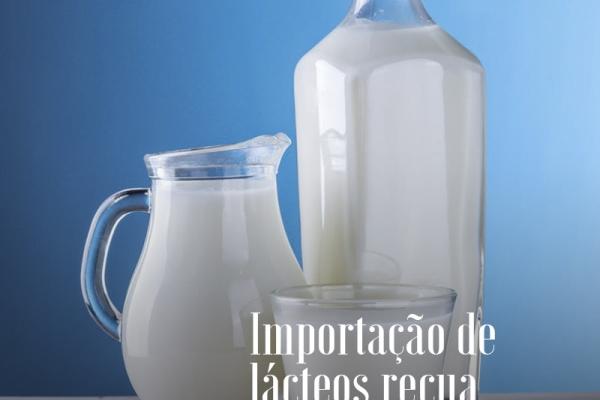 Importação de lácteos recua; câmbio favorece exportação