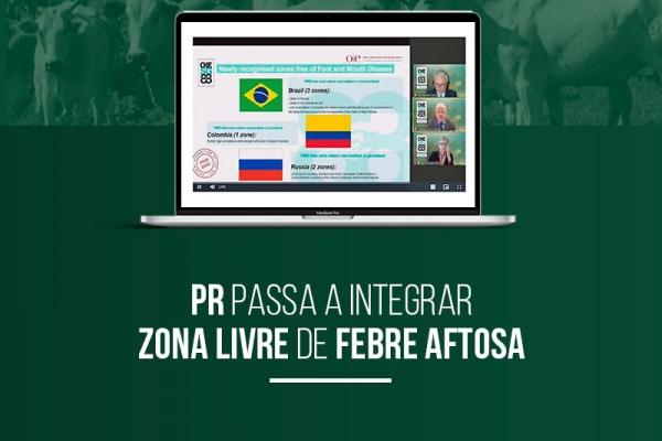 Paraná conquista o certificado de área livre de febre aftosa sem vacinação